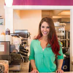 Kyra Bussanich - owner of Kyra's Bakeshop in Lake Oswego, is the only four-time winner of Food Network's Cupcake Wars. Photo courtesy kyrasbakeshop.com